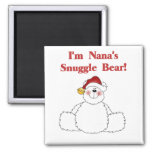 Nana's Snuggle Bear T-shirts and Gifts Square Magnet