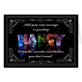 Nancy - Name in Lights greeting card (Photo)