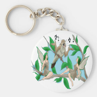 Nancy Nightingale and Tree Fairies Basic Round Button Key Ring