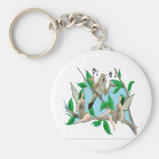 Nancy Nightingale and Tree Fairies Basic Round Button Key Ring