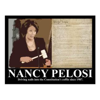 Nancy Pelosi: Constitution coffin nails Postcard