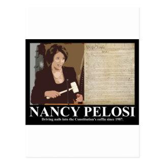 Nancy Pelosi Constitution coffin nails Postcards