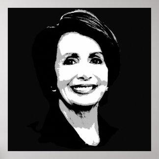Nancy Pelosi Face Poster