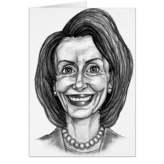 Nancy Pelosi Fan Club Greeting Card