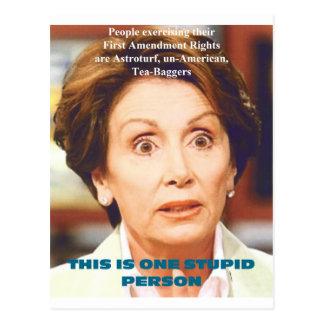 NANCY PELOSI- ONE STUPID PERSON POSTCARD