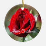Nancy Personalised Red Rose Ornament