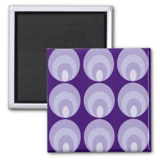 Nancy - purple square magnet