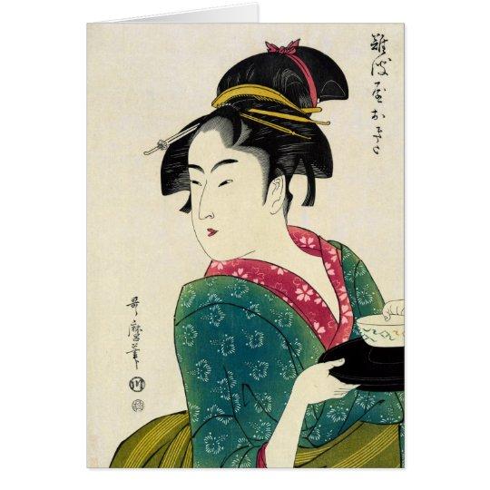 Naniwaya Okita Geisha Card