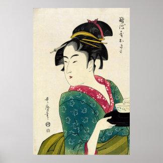 Naniwaya Okita Geisha Poster