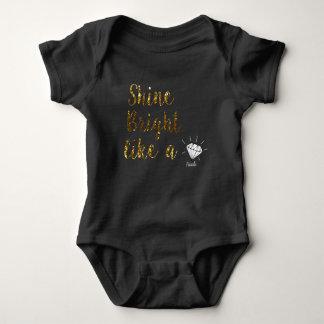 Nanlix Baby Black Baby Bodysuit