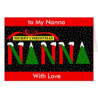 Nanna christmas card