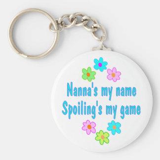 Nanna Spoils Key Ring
