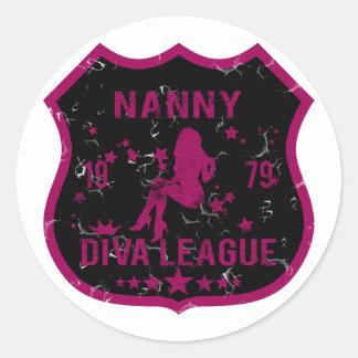 Nanny Diva League Round Sticker