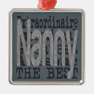 Nanny Extraordinaire Silver-Colored Square Decoration