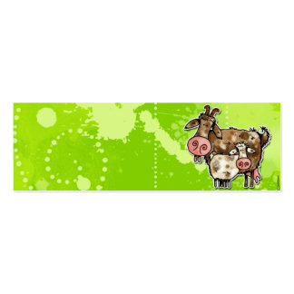 nanny goat profile card business cards