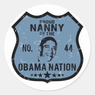 Nanny Obama Nation Round Sticker