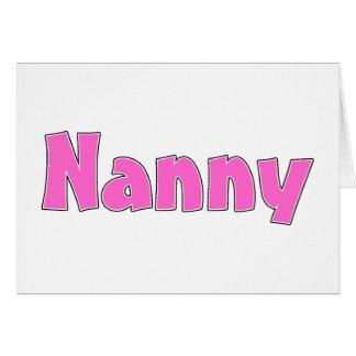 Nanny Pink Greeting Card