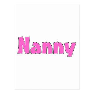 Nanny Pink Postcard