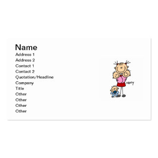 Nanny Stick Figure Business Card Template