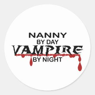 Nanny Vampire by Night Round Sticker
