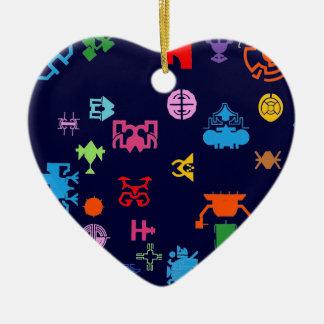 Nano Future Fun Ceramic Heart Decoration