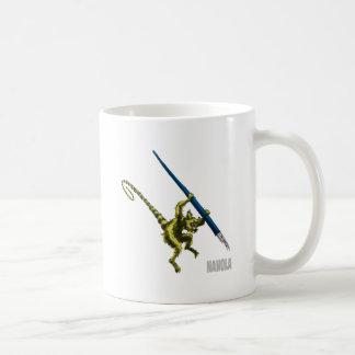NaNoLA - Lemur with fountain pen Basic White Mug
