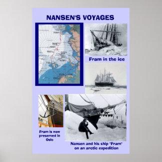 Nansen's Voyages, Fram Poster