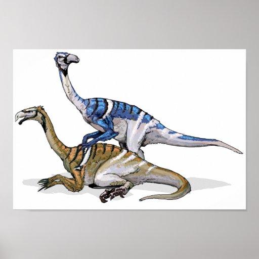 Nanshiungosaurus - Cretaceous Dinosaur Portfolio Poster