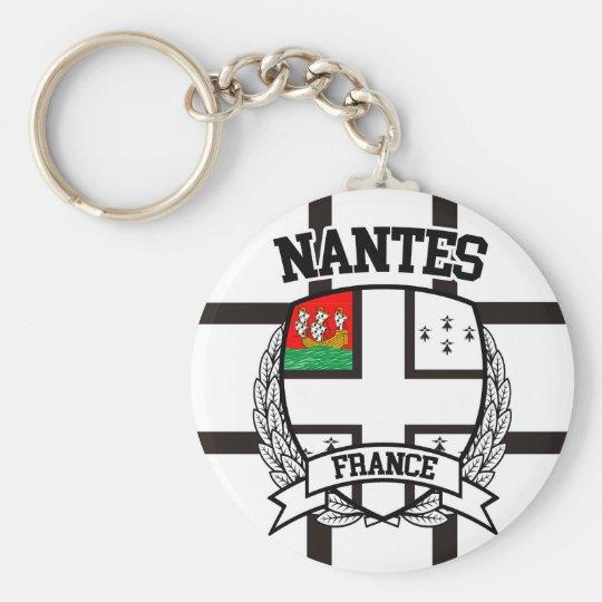 Nantes Basic Round Button Key Ring