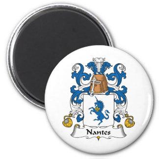 Nantes Family Crest 6 Cm Round Magnet