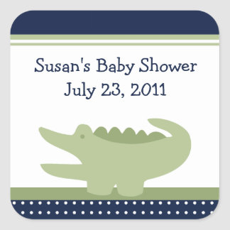 Nantucket Alligator Stickers/Envelope Seals Square Sticker