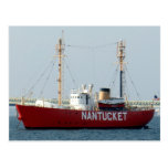 Nantucket MA Cape Cod Boat in Harbour Post Card