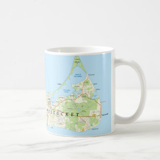 Nantucket Map Coffee Mug
