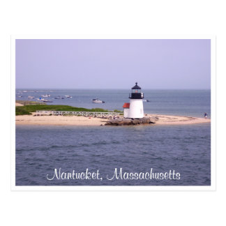 Nantucket Mass Brandt Point Lighthouse Post Card