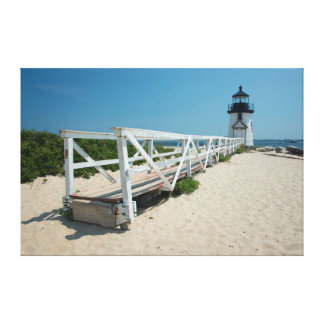 Nantucket. Old Wooden Lighthouse Canvas Print