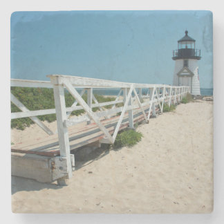 Nantucket. Old Wooden Lighthouse Stone Beverage Coaster