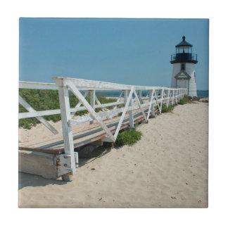Nantucket. Old Wooden Lighthouse Tile