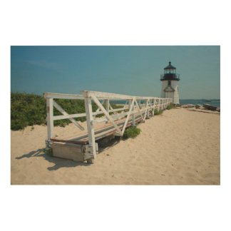 Nantucket. Old Wooden Lighthouse Wood Canvases