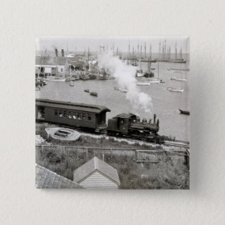 Nantucket Railroad 15 Cm Square Badge