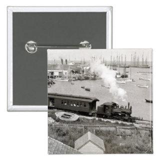 Nantucket Railroad 15 Cm Square Badge