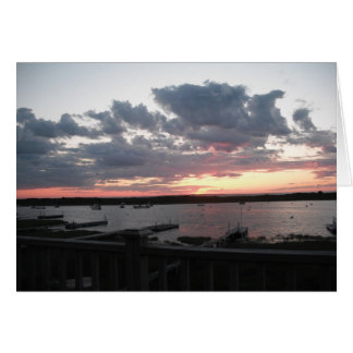Nantucket Sunset Card