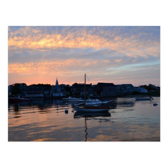 Nantucket Sunset Postcard