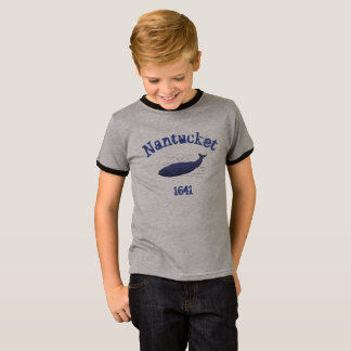 Nantucket, whale, 1641 t-shirt for boys 2