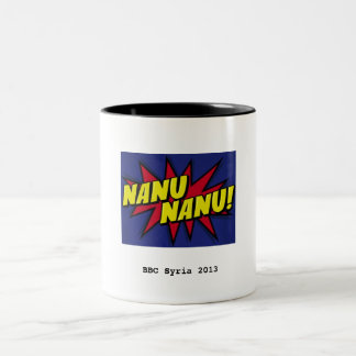 Nanu Nanu mug, small logo Two-Tone Coffee Mug