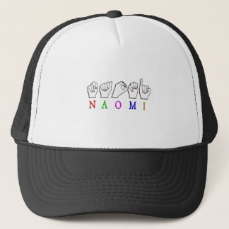 NAOMI FINGERSPELLED NAME SIGN ASL TRUCKER HAT
