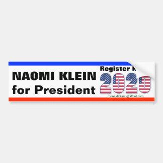 NAOMI KLEIN FOR PRESIDENT 2020 - BUMPER STICKER