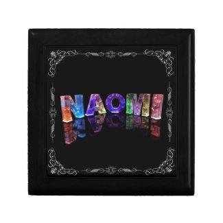Naomi - The Name Naomi in 3D Lights (Photograph) Keepsake Box
