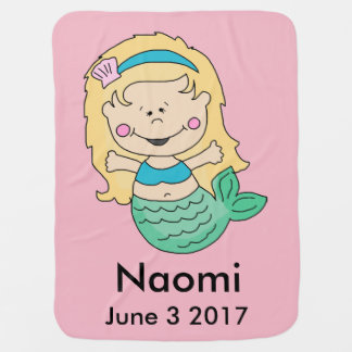 Naomi's Personalized Mermaid Baby Blanket