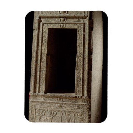 Naos chapel dedicated to the goddess Isis by Ptole Rectangular Magnets