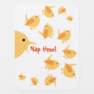 Nap time Baby Blanket with Chicks, Customizable